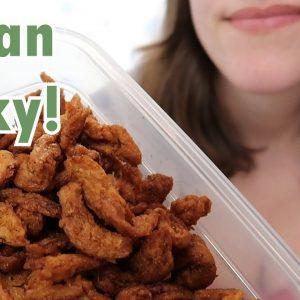 My Favorite Plant-Based Jerky! (Easy, Cheap, Vegan Recipe)