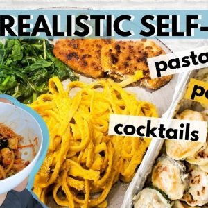 REALISTIC WHAT I EAT IN A DAY + SELF CARE (VEGAN) / Lazy Productive Day in My Life