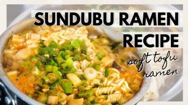 VEGAN SOFT TOFU RAMEN RECIPE (Sundubu Jjigae Ramen Recipe)