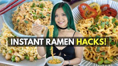 3 New Ways to Eat Instant Noodles (Vegan Instant Ramen HACKS!)